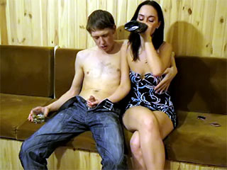 Drunken Female Pounded
