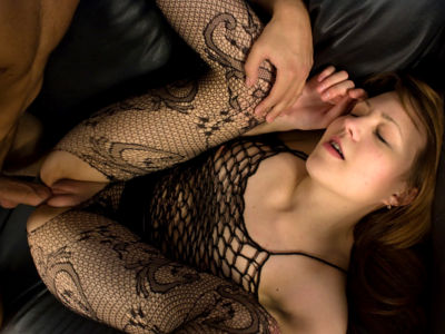 Ultra-kinky Teenager In Fishnet Fucked