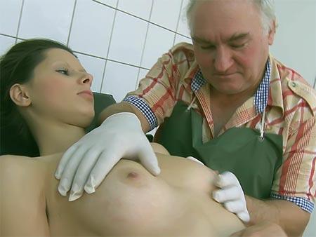 Bashful Nubile Pummeled Through Elderly Medic